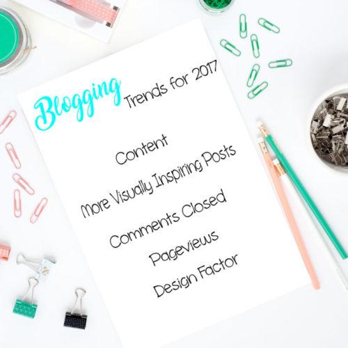 Blogging Trends 2017