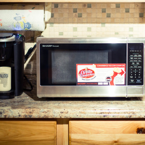 Dorm Room Essentials: Sharp Countertop Microwave Oven with Orville Redenbacher's Certified Popcorn Preset Button