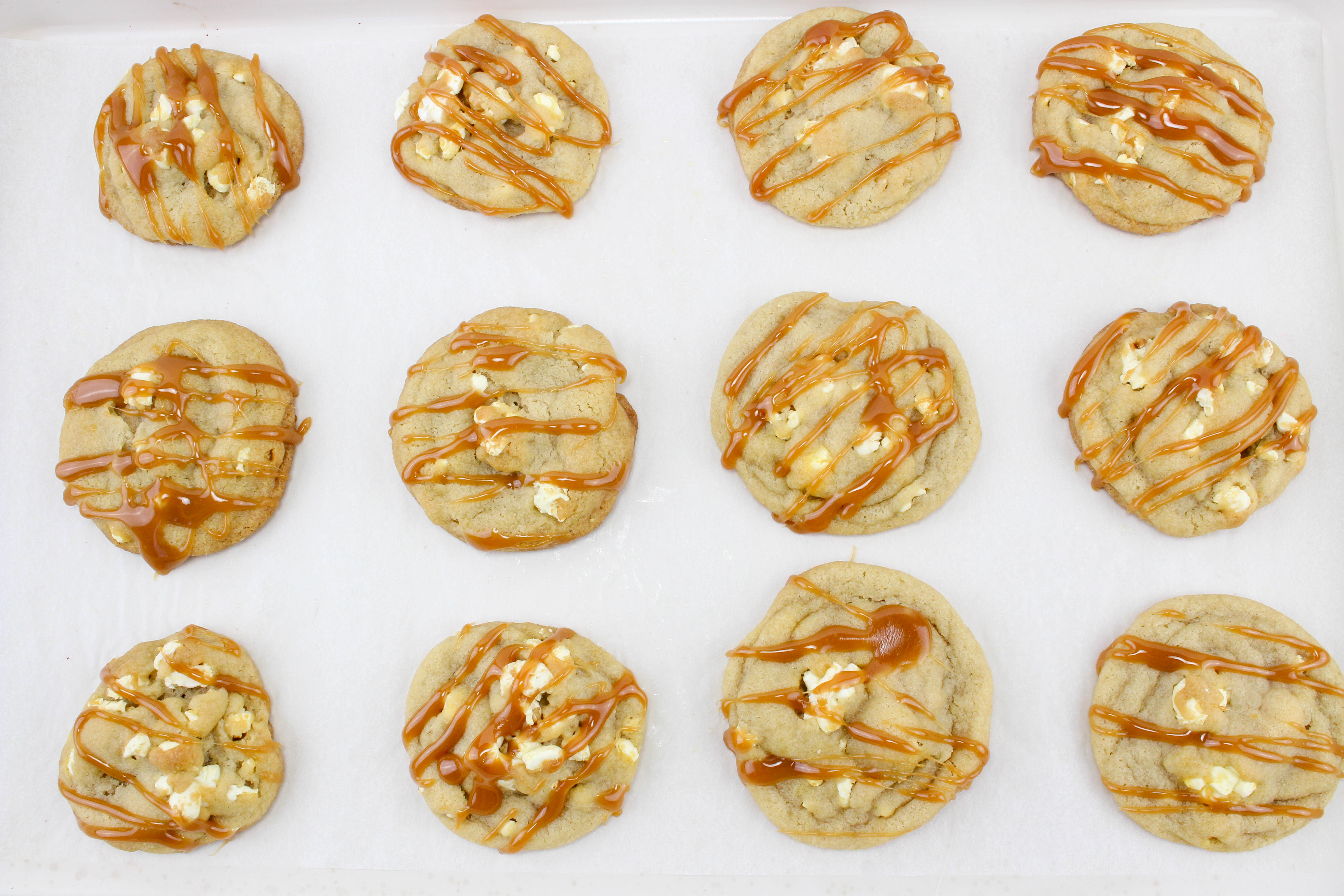 Caramel Buttered Popcorn Cookies
