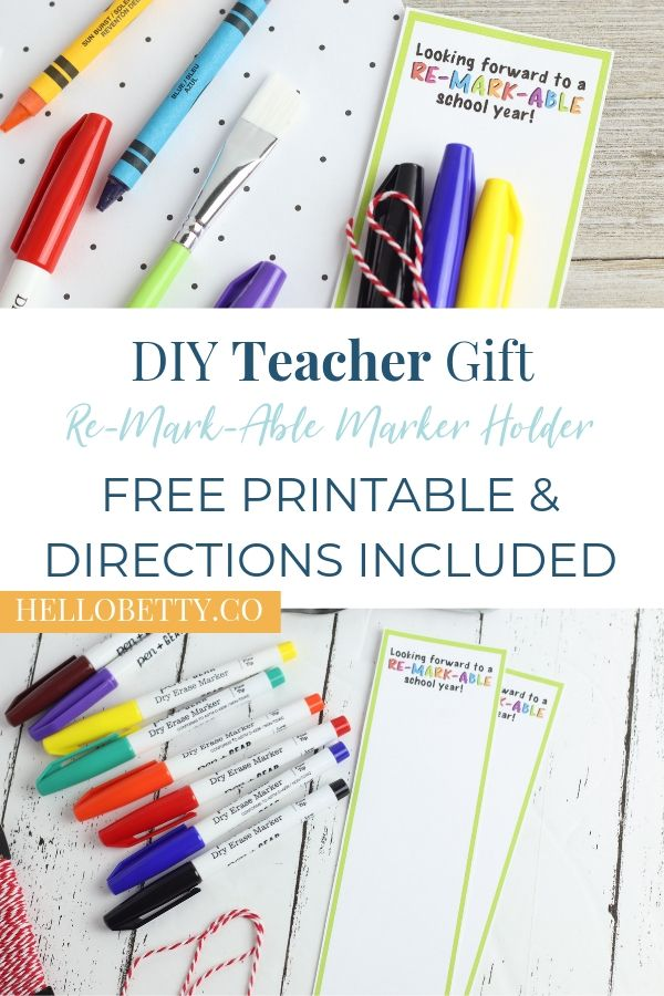 Marker Teacher Gift Pin