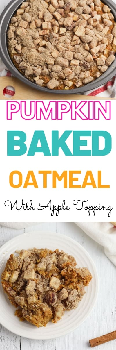 Looking for the perfect baked oatmeal recipe? Check out this Pumpkin and Apple Baked oatmeal. Perfect for a fall breakfast with family or even a snack. #pumpkin #apple #oatmeal #quickoats #fallrecipe