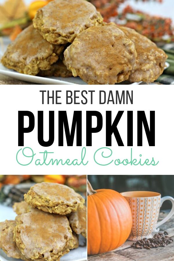 These have to be the best damn oatmeal cookies ever! They are easy to make and easy to store for company coming this holiday season.