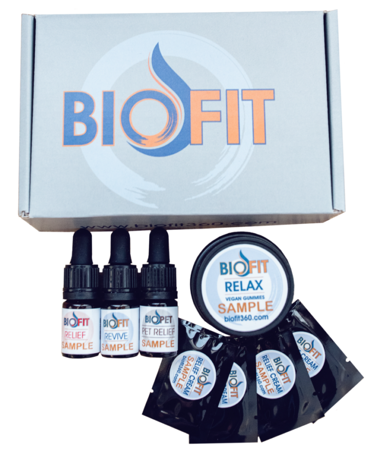 SAMPLE-PAK: 6 Gummies, .05mL Relief, .05mL Revive, .05mL BioPet, and 4 packets Relief Cream