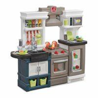 Step2 Modern Metro Kitchen   Modern Play Kitchen & Toy Accessories Set   Kids Kitchen Playset with Real Lights & Sounds