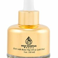 Anti-Aging Face Serum - Nourishing Elixir Beauty Facial Oil Treatment with Rosehip Oil and 24K Gold Dust for Face, Hair and Body, Rose Hip Seed Oil Softens and Helps Reduce Fine Lines and Wrinkles