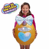 Rainbocorns Giant Big Bow Surprise Mystery Egg (Includes 25+ Surprises!) by Zuru - Flamingo