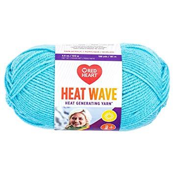 Red Heart Heat Wave Yarn, Blue Skies