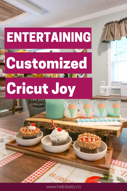 Entertaining set using Cricut Joy